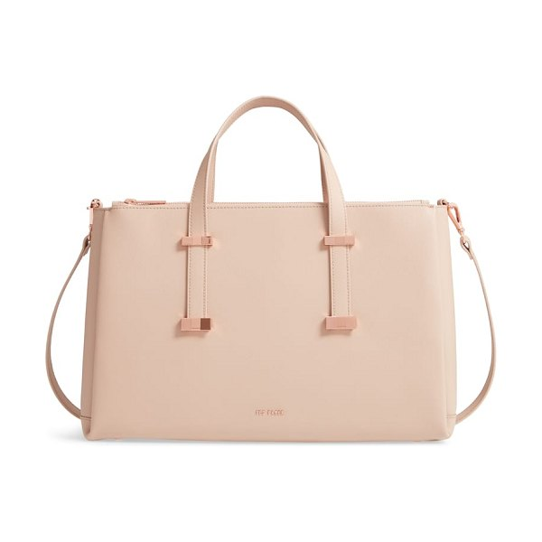 Ted Baker juliea leather laptop bag in beige