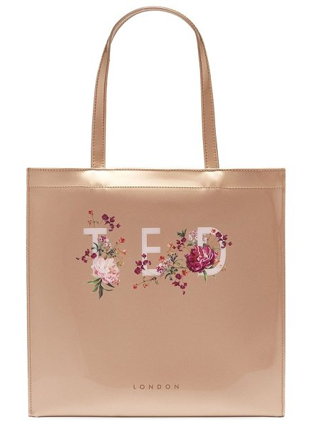 Ted Baker large icon in rose gold - With its shimmering metallic finish and...
