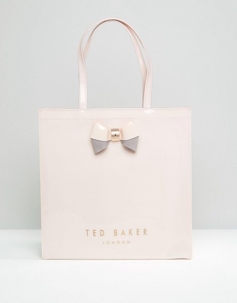Ted Baker Large icon bag in pale pink in pink - Cart by Ted Baker, Glossy outer, Unlined design, Twin...