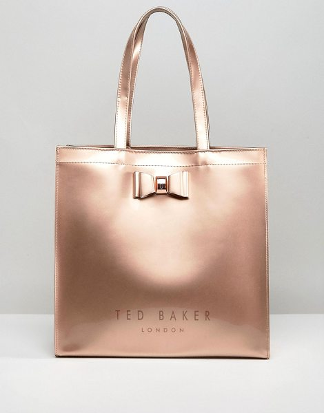 TED BAKER Large Icon Bag - Cart by Ted Baker, Metallic outer, Twin handles,...