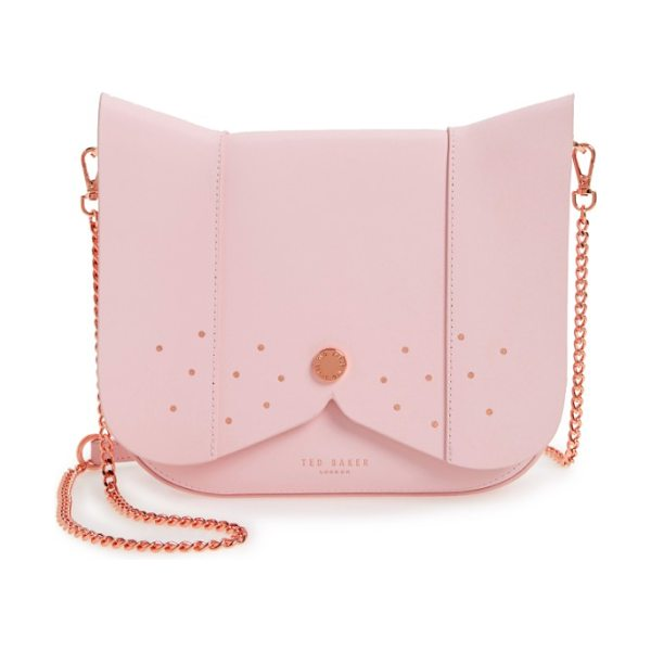 Ted Baker barkley dog leather crossbody bag in mid pink - You'll be top dog with this canine-inspired handbag...