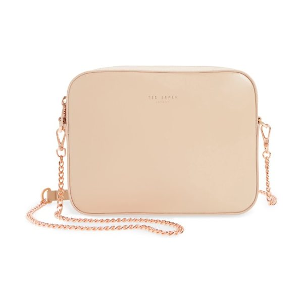 Ted Baker casey camera crossbody bag in natural - A boxy, structured silhouette inspired by vintage camera...
