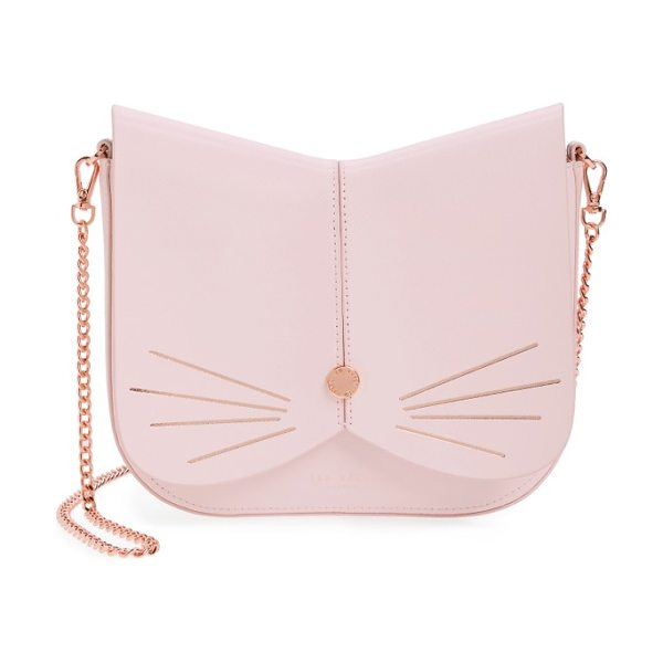 TED BAKER cat leather crossbody bag - A feline-inspired handbag complete with whiskers, a...