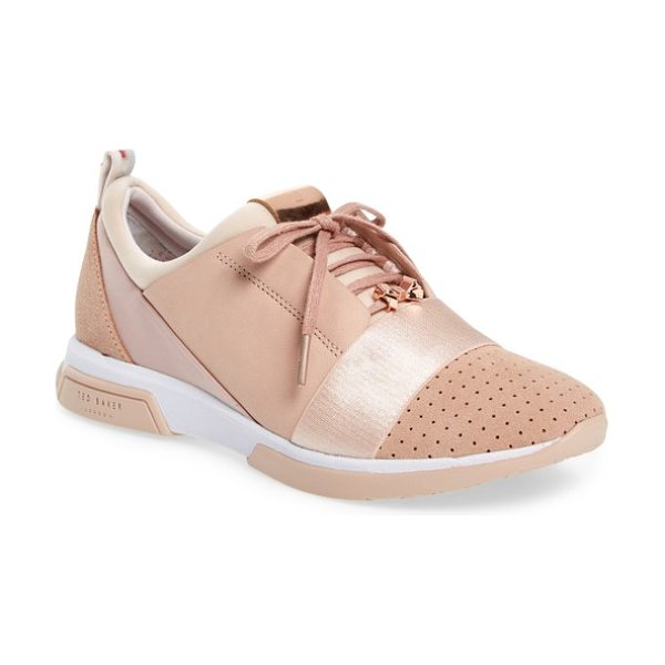 Ted Baker cepa sneaker in light pink - Breezy perforations and a lustrous panel inset merge...