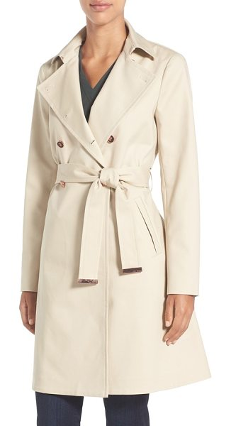 TED BAKER flared skirt trench coat - A classic, belted trench coat in stretch-woven cotton...