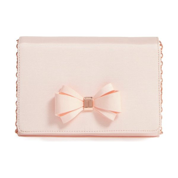 Ted Baker grosgrain clutch in baby pink - Go graceful with a grosgrain clutch set off with a...