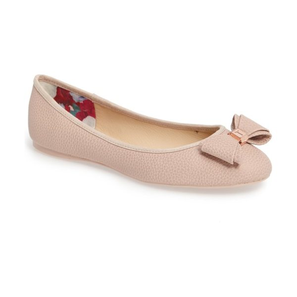 Ted Baker immet ballet flat in tan - Rich pebbling defines a generously cushioned ballet flat...