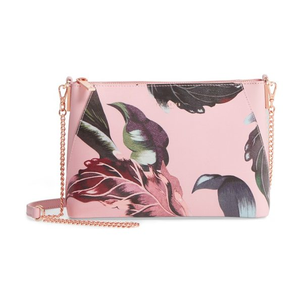 TED BAKER julisa eden crossbody bag - Stylized flowers float across the front of a lightly...