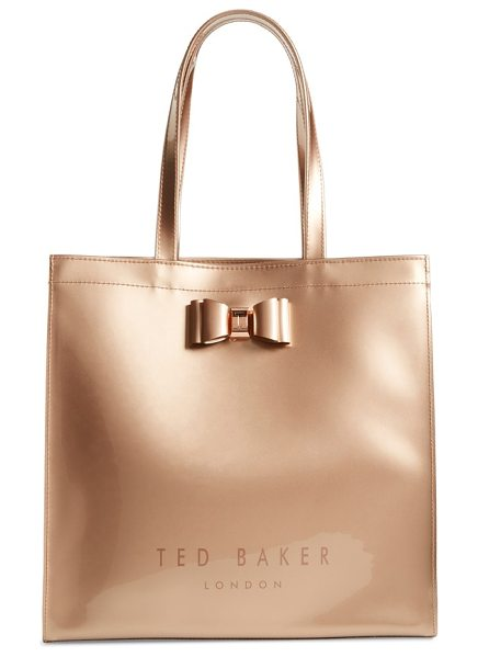 Ted Baker large icon in rose gold - A signature bow plays up the timeless sophistication of...