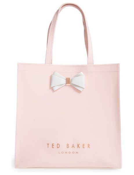 Ted Baker large icon in mid pink - A signature bow plays up the timeless sophistication of...