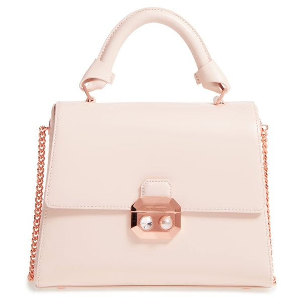 Ted Baker leather top handle satchel in natural