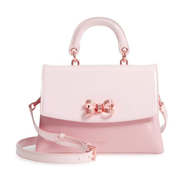 TED BAKER lilacc lady bag leather top handle satchel - Signature rose-gold hardware accents the classic,...