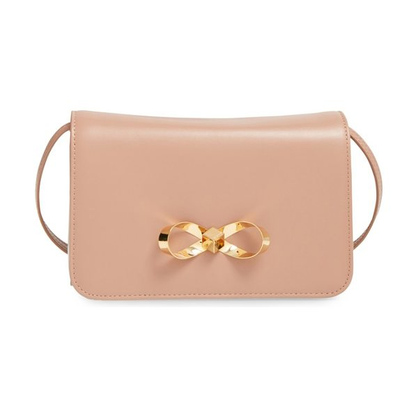 Ted Baker Loop bow leather crossbody bag in mink - Offering hands-free style, a ladylike leather crossbody...