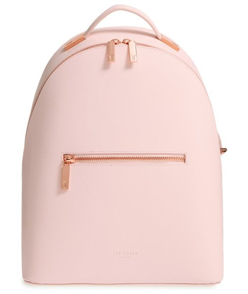 TED BAKER mini jarvis leather backpack - Sleek and contemporary, this Ted Baker London backpack...