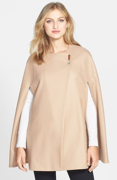 TED BAKER minimalist wool blend cape - Cloak yourself in refined elegance with a...