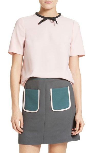 Ted Baker sassa tie neck top in pale pink - From the Colour by Numbers Collection by Ted Baker....