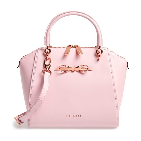 Ted Baker Small slim bow tote in baby pink - A structured tote is the perfect about-town companion...