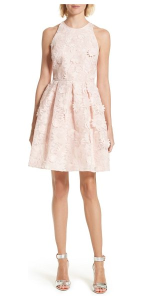TED BAKER sweetee lace skater dress - A flouncy party dress is pure confection in pale-pink...