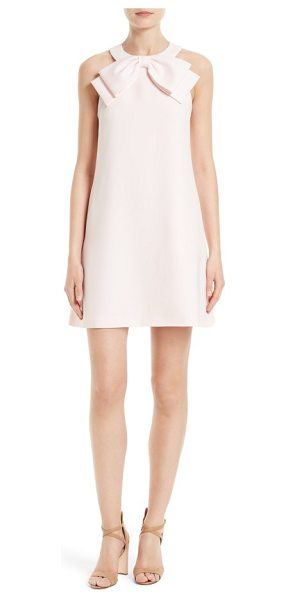Ted Baker trixia bow neck a-line dress in baby pink - Abounding with ladylike charm, an A-line shift gets a...