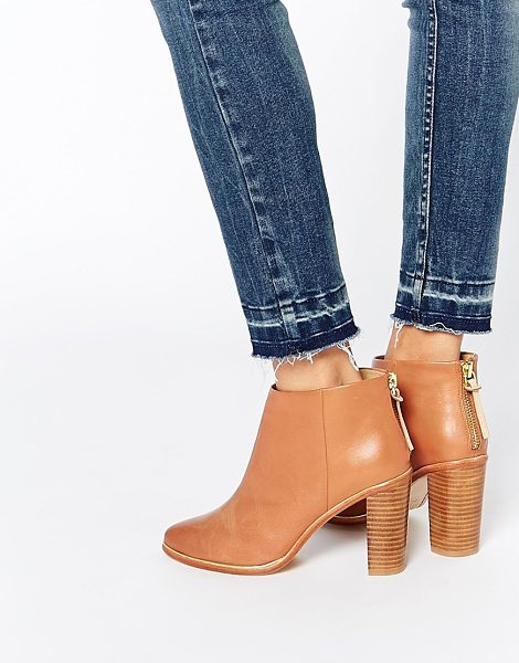 Ted Baker Lorca 2 tan leather heeled ankle boots in tan - Boots by Ted Baker Smooth leather upper Almond toe...