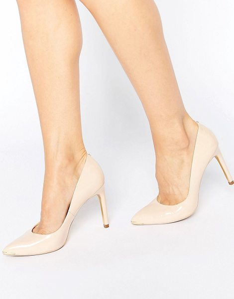 """Ted Baker Neevo Nude Patent Pumps in beige - """"""""Heels by Ted Baker, Leather upper, Pointed toe,..."""