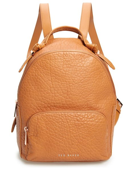 Ted Baker orilyy leather backpack in brown
