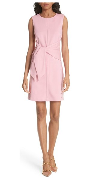 Ted Baker papron tie front dress in pink - Attached ties drape in a luscious twist at the front of...