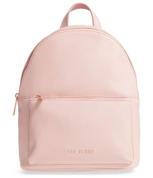 TED BAKER pearen leather backpack in light pink - A commuter-friendly backpack that's scaled to be big...