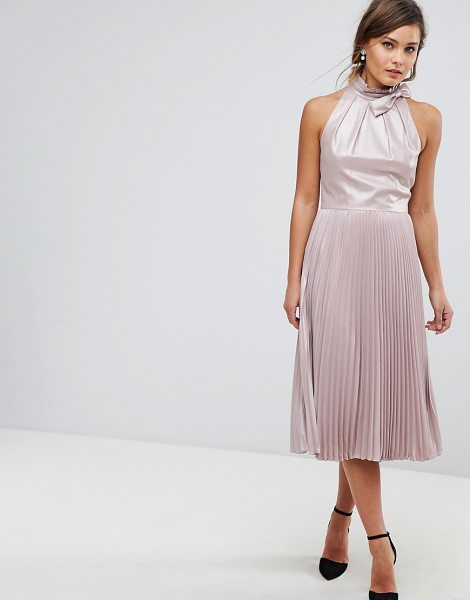 Ted Baker Pleated Midi Dress in gold - Dress by Ted Baker, Iridescent finish, It s time to...