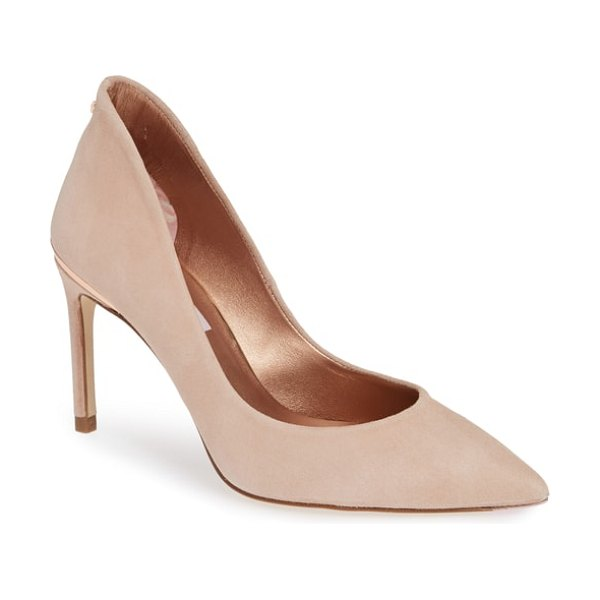 Ted Baker savio pointy toe pump in beige