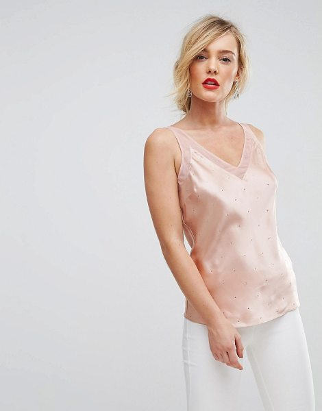 Ted Baker Sparkle Cami Top in pink - Top by Ted Baker, Soft-touch silk, V-neck, Sleeveless...