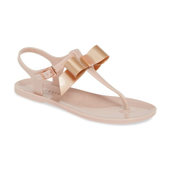 Ted Baker teiya t-strap bow sandal in pink