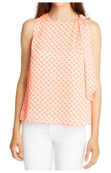 Ted Baker teresa polka dot top in pink