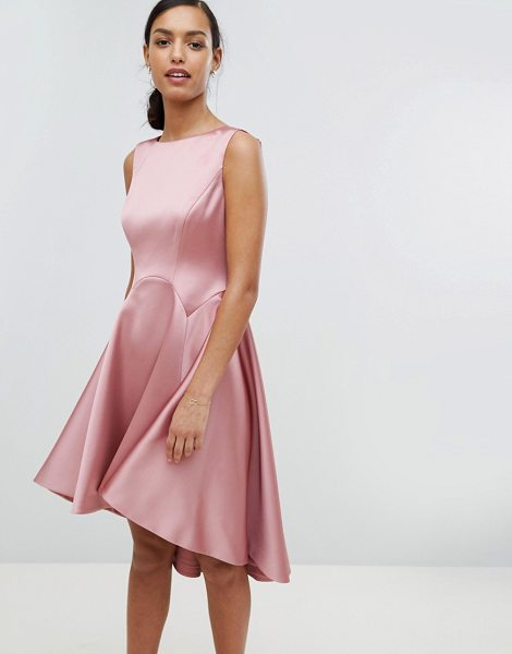 TED BAKER Tie The Knot Sculpted Skater Bridesmaid Dress | Nudevotion.com