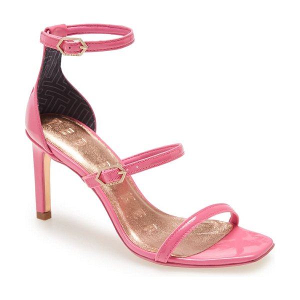 Ted Baker triap strappy square toe sandal in pink