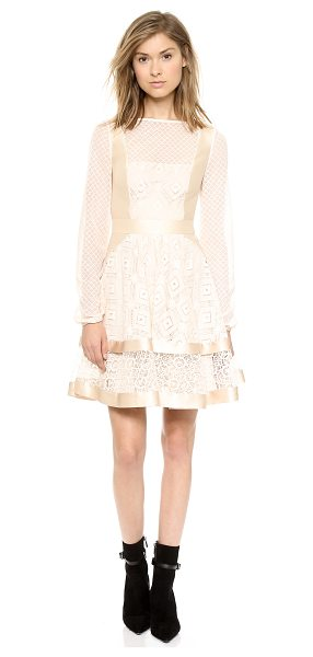 TEMPERLEY LONDON Cruz mini dress - Delicate lace panels lend airy romance to this charming...