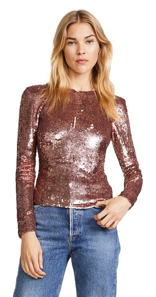 Temperley London filigree top in rose quartz - This slim Temperley London top is covered in shimmering,...