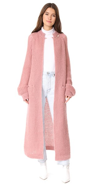 Temperley London illusion cardigan in rose quartz - This Temperley London maxi cardigan is composed of...