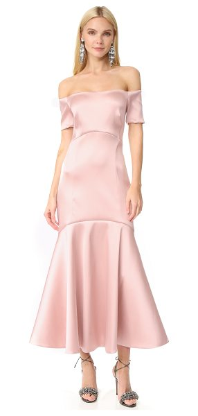 TEMPERLEY LONDON midi onyx evening dress - This lustrous satin Temperley London dress is finished...
