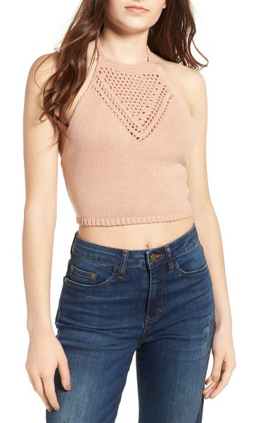 Ten Sixty Sherman crochet halter top in sand - Craving that carefree, bohemian vibe? Channel your inner...