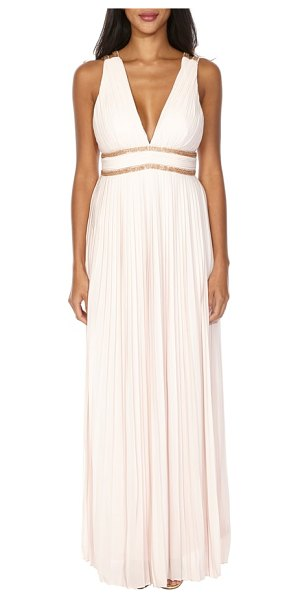 TFNC adora grecian gown in peach blush - Inspired by ancient Greece with thoroughly contemporary...