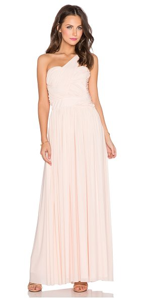 TFNC Ingrid maxi dress in blush - Mesh: 94% nylon 6% elastaneLining: 100% poly. Hand wash...