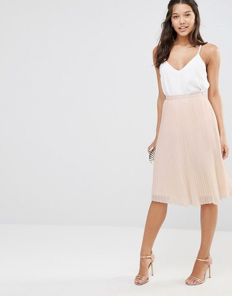 TFNC Pleated Midi Skirt in pink - Midi skirt by TFNC, Lined woven fabric, Knife pleats,...