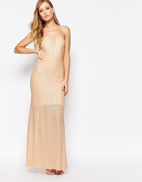 TFNC Showstopper Sequin Maxi Dress in pink - Maxi dress by TFNC, Sequin embellished fabric,...