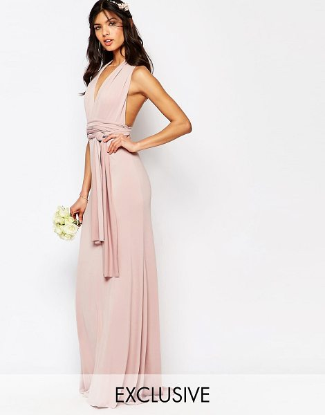 "TFNC WEDDING Multiway Maxi Dress in pink - """"Maxi dress by TFNC, Woven fabric, Comes with two long..."