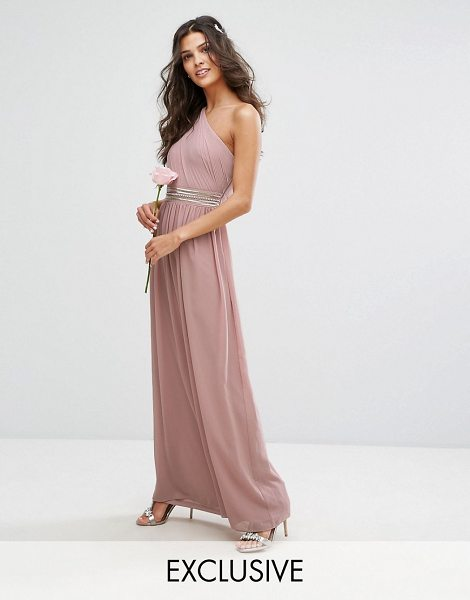 "TFNC One Shoulder Embellished Maxi Bridesmaid Dress - """"Maxi dress by TFNC, Lined chiffon, One-shoulder..."
