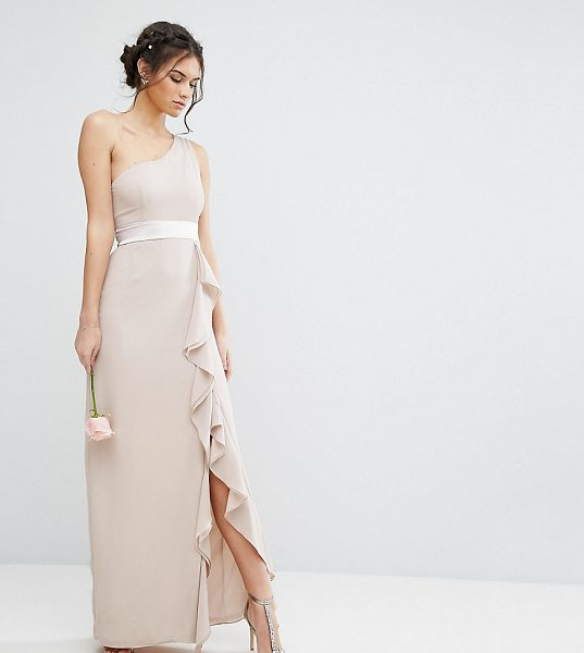 TFNC WEDDING One Shoulder Maxi Dress with Frill Detail - Maxi dress by TFNC, Smooth woven fabric, One shoulder...