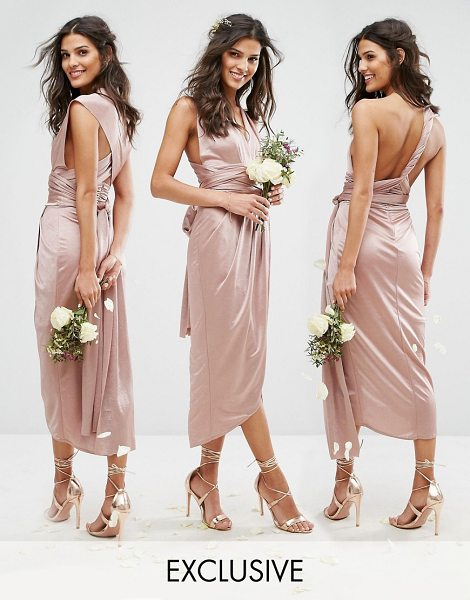 "TFNC WEDDING Wrap Pencil Multiway Midi Dress - """"Midi dress by TFNC, Smooth silky-feel fabric, Comes..."