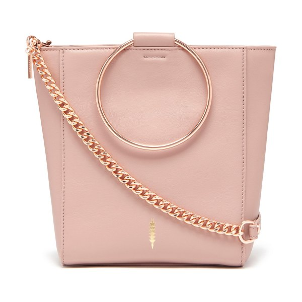 Thacker le bucket leather bag in pink