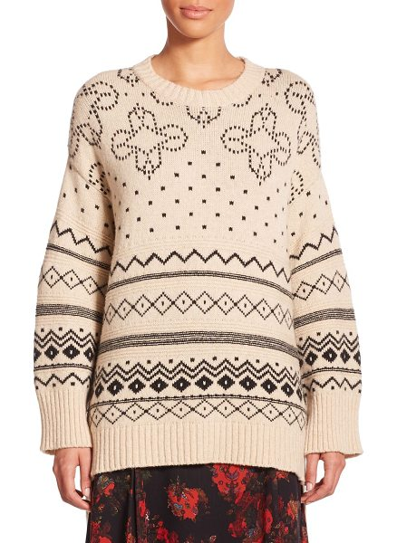 THAKOON Oversized fairisle sweater - An oversized drop-shoulder silhouette updates this...